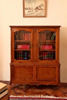 Bookcase with Glazed Doors - wood, solid wood - 1965